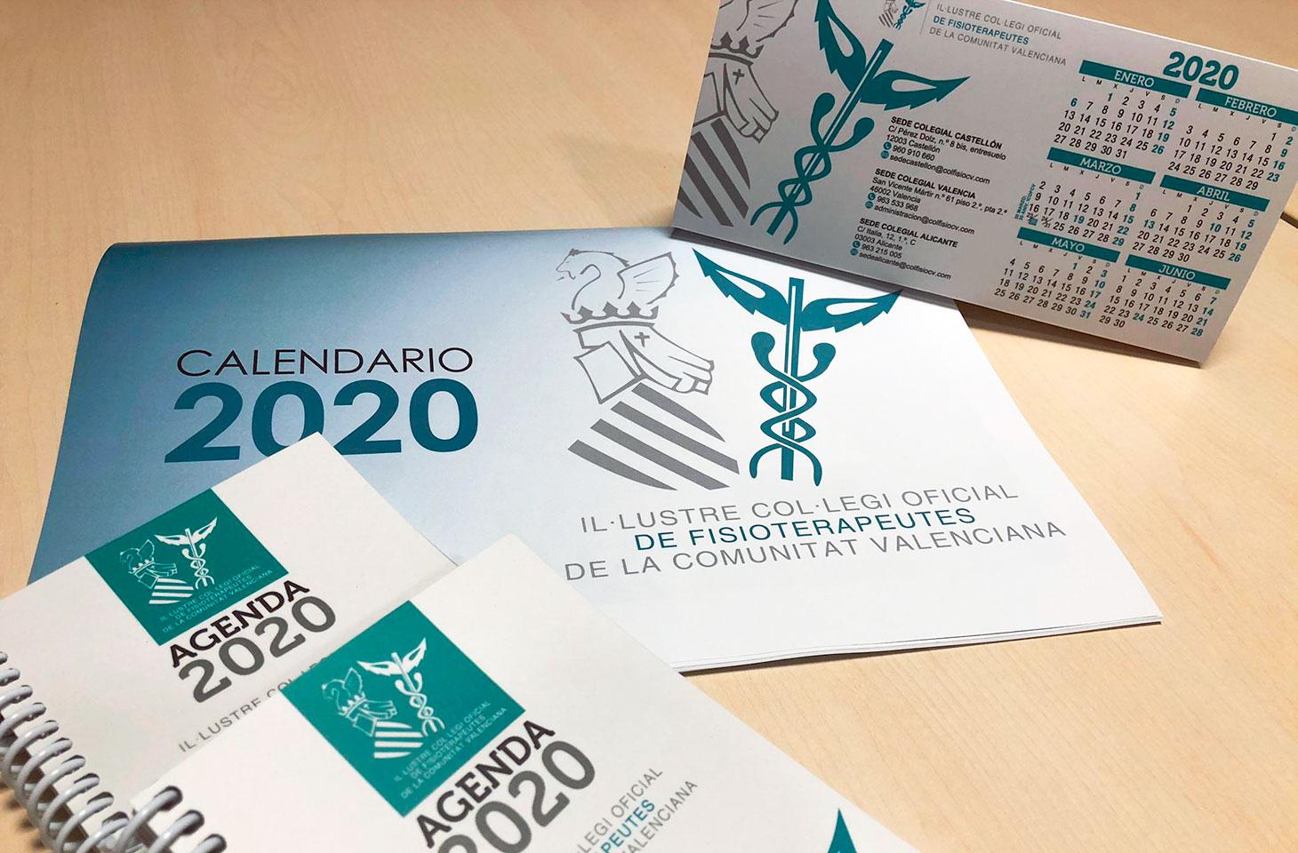 Ya disponibles la agenda y los calendarios de 2020 para colegiados