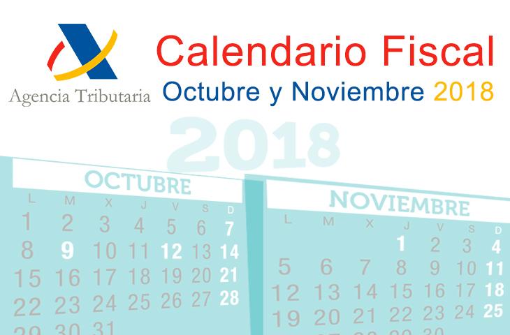 El ICOFCV informa: calendario fiscal para octubre-noviembre de 2018