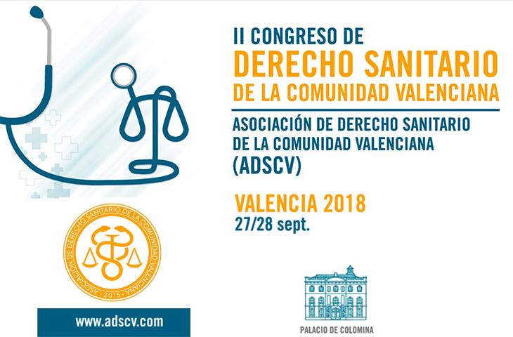 El ICOFCV participará en el II Congreso de Derecho Sanitario de la Comunidad Valenciana