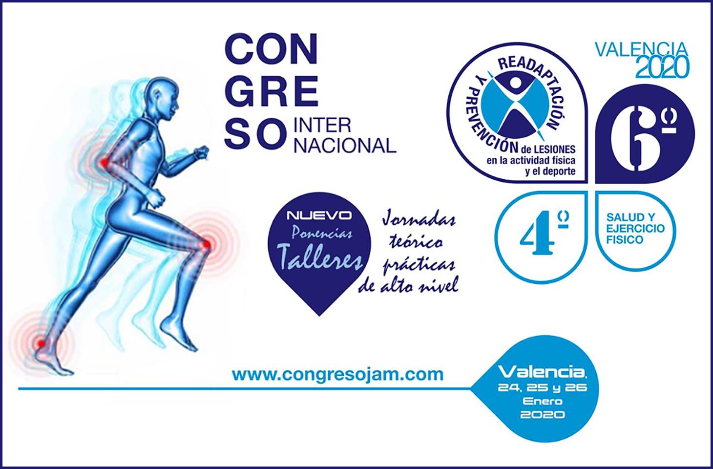 El Colegio de Fisioterapeutas de la Comunidad Valenciana, colaborador del VI Congreso Internacional JAM Sports 2020
