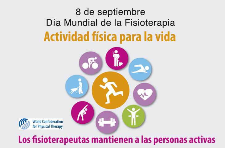 Día Mundial de la Fisioterapia 2017 -El Colegio de Fisioterapeutas insta a la sociedad a llevar una vida más activa en beneficio de su salud