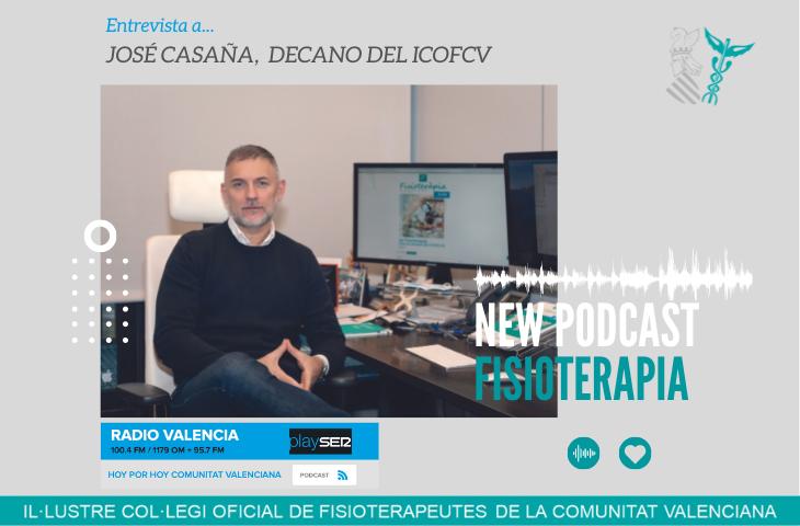 Fisioterapia en la SER Valencia de la mano del decano del ICOFCV, José Casaña