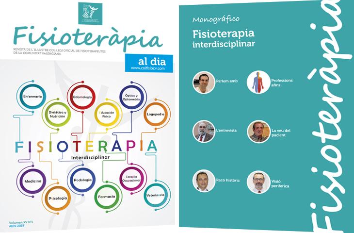"""""""Fisioterapia interdisciplinar"""", tema del monográfico del primer número de la revista colegial FAD este 2019"""