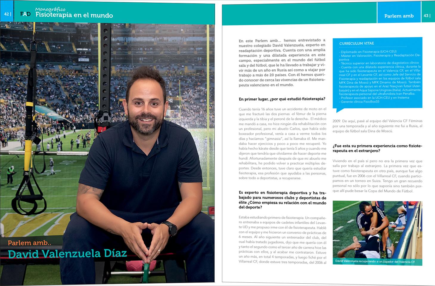 Parlem amb... David Valenzuela. Entrevista del especial de Fisioterapia en el mundo