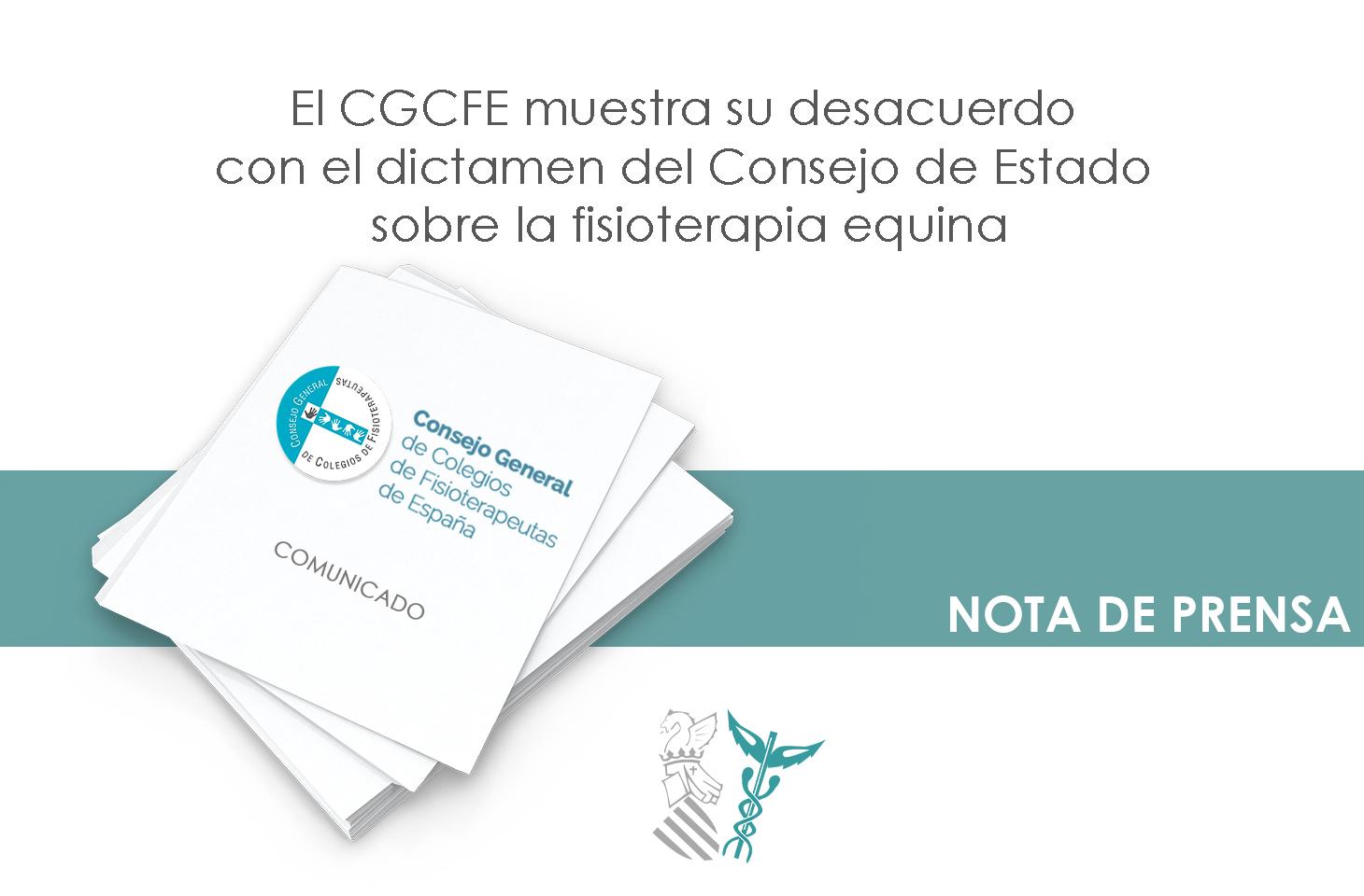 El CGCFE manifiesta su desacuerdo con el dictamen del Consejo de Estado sobre la fisioterapia equina que no entra en el fondo de la cuestión