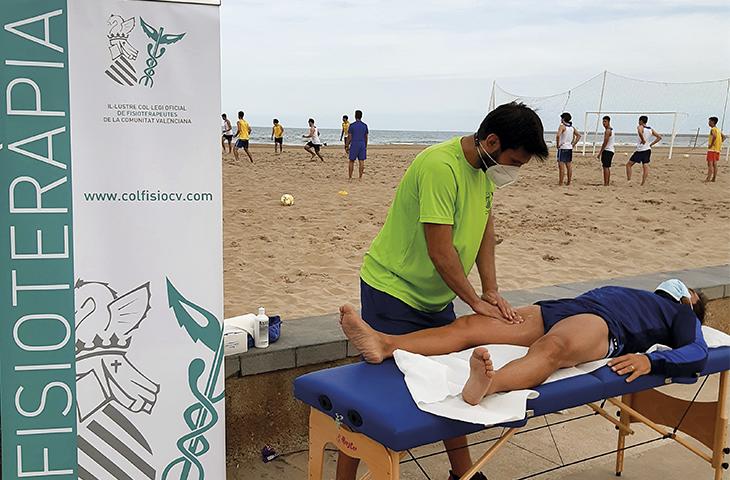 Servicio de Fisioterapia en los clínics de fútbol de la FFCV