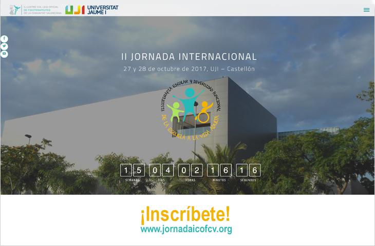 Abierta las inscripciones para la II Jornada Internacional del ICOFCV: Fisioterapia Escolar y Diversidad Funcional