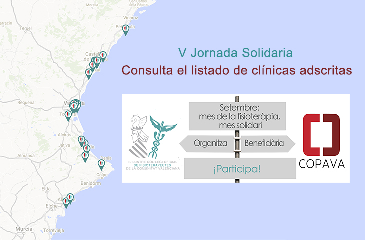 Consulta las clínicas que participan en la V Jornada Solidaria del ICOFCV y a las que puedes acercarte para hacer tu donativo durante todo septiembre