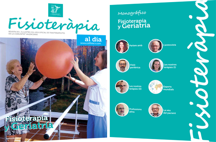 """""""Fisioterapia y Geriatría"""", tema del monográfico del nuevo número de la revista colegial FAD"""