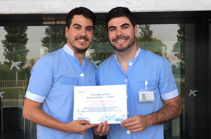 Los fisioterapeutas del Hospital de Denia ganan el Premio Investigación en materia de Enfermería 2016