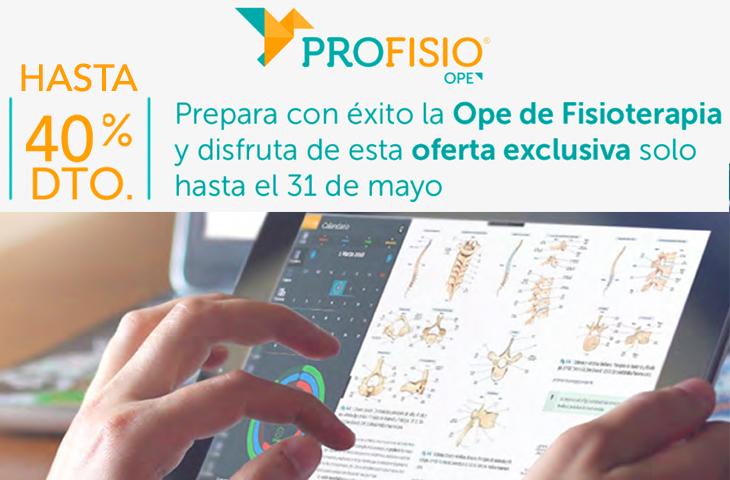 Los colegiados del ICOFCV podrán beneficiarse de hasta un 40% de descuento en PROFISIO, el programa formativo online para preparar las oposiciones de Fisioterapia