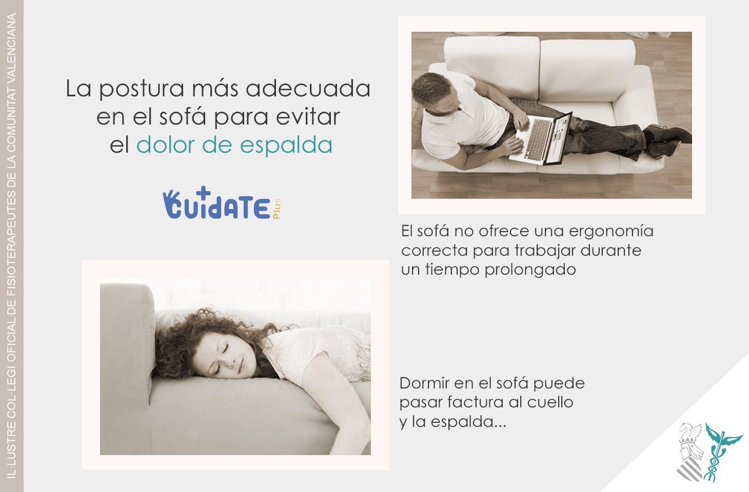 La postura más adecuada en el sofá para evitar el dolor de espalda