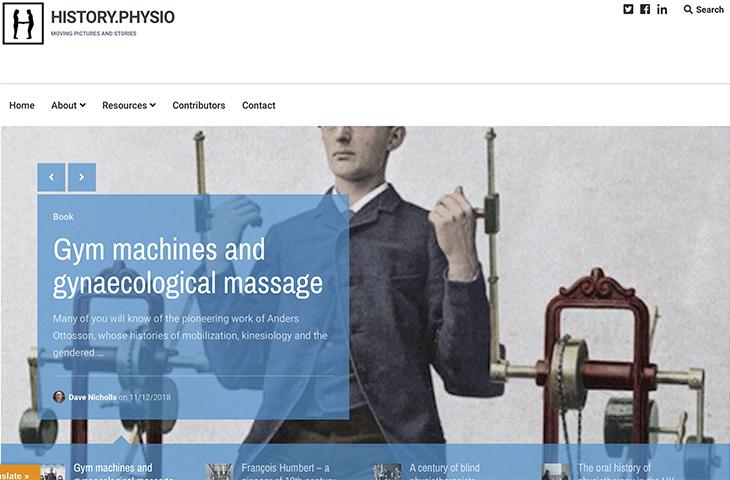 La Asociación Internacional de Historia de la Fisioterapia lanza web propia