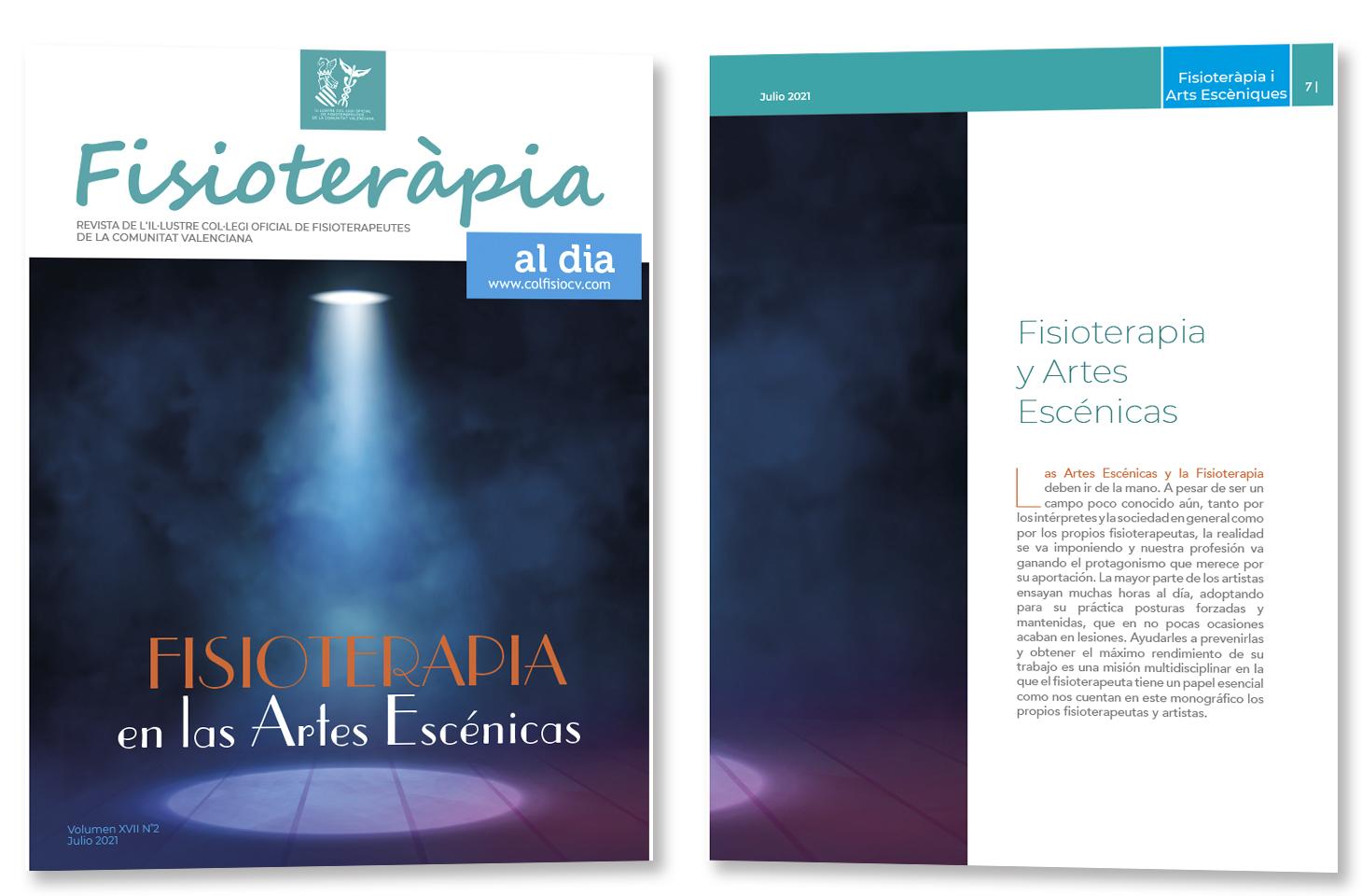"""Nuevo número de nuestra revista colegial FAD con el monográfico """"Fisioterapia en las Artes Escénicas"""""""