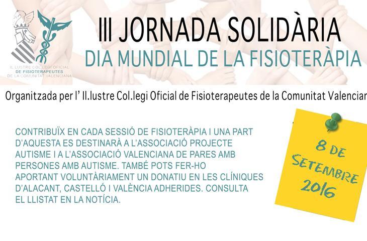 III Jornada Solidaria del ICOFCV: consulta las clínicas adscritas, acércate a ellas el 8 de septiembre y colabora