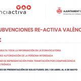 """Abierto el plazo para solicitar las ayudas """"Re-Activa València"""" del Ayuntamiento de Valencia para autónomos y pymes ante la crisis del Covid-19"""