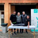 Las pruebas intermedias para los árbitros en Albatera y València contaron con un servicio de Fisioterapia prestado por el ICOFCV