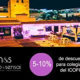 Convenio de colaboración del ICOFCV con el restaurante Mauro & Sensai de Alicante