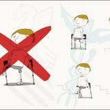 Los fisioterapeutas advierten de los riesgos de apoyar la parte posterior de la rodilla sobre las muletas