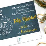 El Colegio de Fisioterapeutas de la Comunidad Valenciana os desea una Feliz Navidad y Próspero Año Nuevo