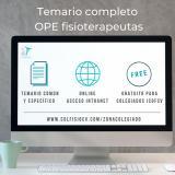 Ya está disponible en nuestra web el temario específico para la OPE de fisioterapeutas