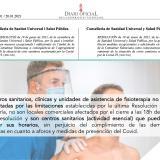 Las clínicas de fisioterapia son centros sanitarios, por lo tanto, pueden mantener sus horarios de apertura (nuevas restricciones COVID-19)