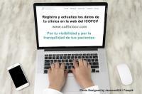 Actualiza los datos de tu clínica en la web del ICOFCV para ganar visibilidad y confianza ante los pacientes