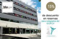 Descuento del 15% para los colegiados del ICOFCV en las reservas en el Hotel Blu de Almansa
