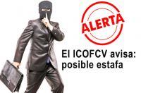 El ICOFCV alerta ante una posible estafa denunciada por una colegiada
