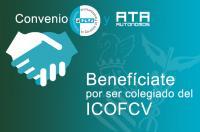 Si eres colegiado del ICOFCV, puedes beneficiarte de las ventajas fruto del convenio de colaboración entre el CGCFE y ATA