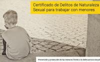 Nota para colegiados: si trabajas con menores, precisas certificar la ausencia de Delitos de Naturaleza Sexual