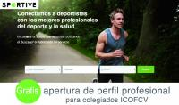 El Colegio de Fisioterapeutas de la Comunidad Valenciana establece un acuerdo de colaboración con el buscador online Sportive