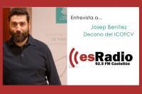 El decano del ICOFCV ha sido entrevistado por Voramar es.radio de Castellón