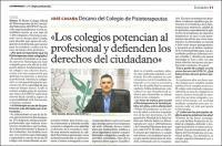 """José Casaña: """"Los Colegios potencian al profesional y defienden los derechos de los ciudadanos"""""""