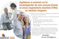 Ensayo clínico para estudiar una nueva vacuna frente al virus respiratorio sincitial en personas a partir de 60 años de edad