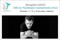 """Próximo monográfico del ICOFCV: """"ABC en Fisioterapia, razonamiento clínico"""" del 11 al 13 de marzo"""