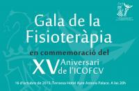 Próximo 16 de octubre, Gala de la Fisioterapia en conmemoración del XV Aniversario del ICOFCV