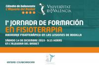 El ICOFCV, colaborador de la 1ª Jornada de Fisioterapia de la Cátedra de Baloncesto l'Alqueria del Basket de la UV