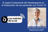 Mª Àngels Cebrià explica en 'A Punt radio' la importancia de la fisioterapia en el tratamiento de los pacientes con COVID-19