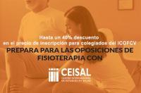 El ICOFCV renueva su convenio con Ceisal con un descuento para los colegiados de hasta el 40% en el curso para preparar la OPE de Fisioterapia