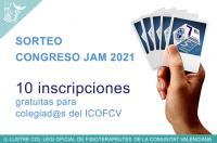 Sorteamos 10 entradas gratuitas para el Congreso JAM 2021. Dirigido a colegiad@s del ICOFCV