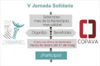 Si tienes una clínica de fisioterapia, ya puedes inscribirte en la V Jornada Solidaria del ICOFCV