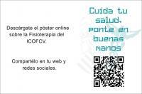 Comparte el póster con el vídeo de la campaña de divulgación de la fisioterapia del ICOFCV