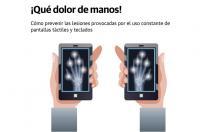 dolor manos -Cómo prevenir las lesiones provocadas por el uso constante de pantallas táctiles y teclados