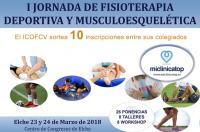 """Elche acogerá la """"I Jornada de Fisioterapia Deportiva y Músculoesquelética Miclinicatop"""" el 23 y 24 de marzo  - Colabora ICOFCV"""