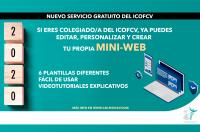 Ponemos en marcha un servicio gratuito de páginas mini-webs para colegiados del ICOFCV