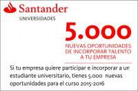 """Si quieres incoporar talento a tu empresa, puedes aprovechar el """"Programa Becas en Pymes"""" del Santander"""